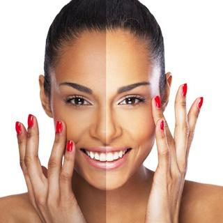 skin lightening image of face