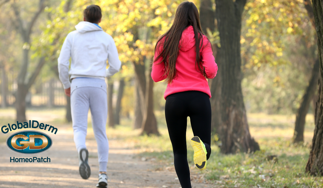 Adults jogging